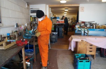 Tool refurbishment shop